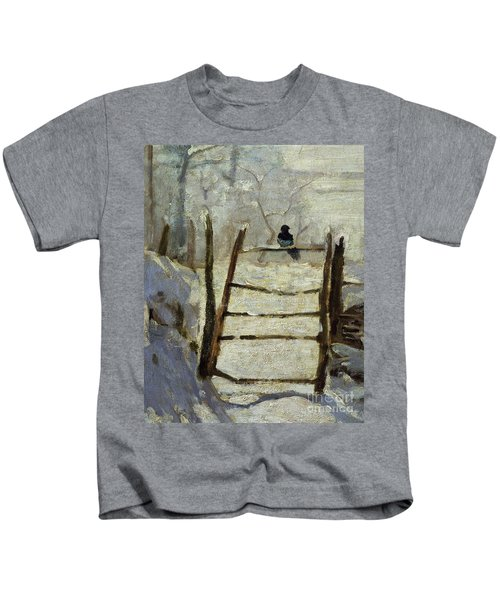 The Magpie Kids T-Shirt by Claude Monet