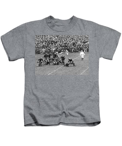 Notre Dame-army Football Game Kids T-Shirt by Underwood Archives