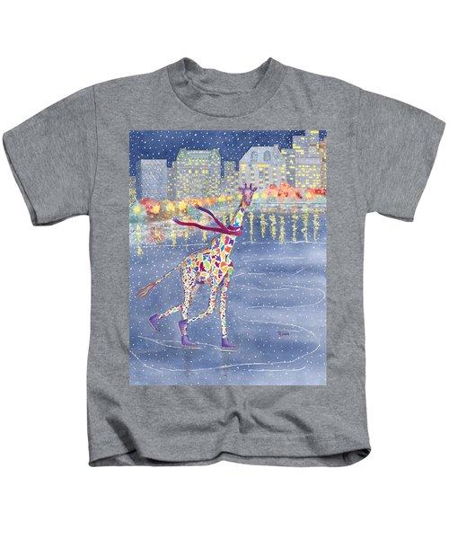 Annabelle On Ice Kids T-Shirt by Rhonda Leonard
