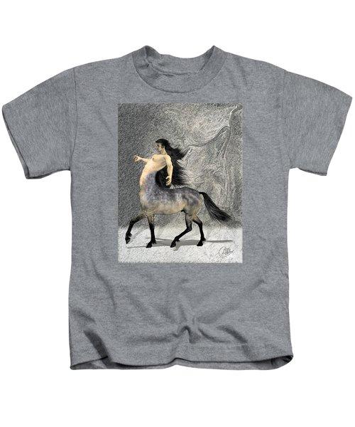 Centaur Kids T-Shirt by Quim Abella