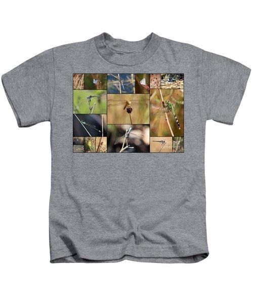 Collage Marsh Life Kids T-Shirt by Carol Groenen