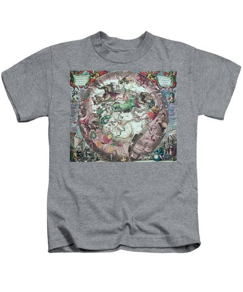 Constellations Of The Southern Hemisphere, From The Celestial Atlas, Or The Harmony Of The Universe Kids T-Shirt by Andreas Cellarius