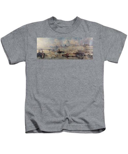 Design For The Thames Embankment Kids T-Shirt by Thomas Allom