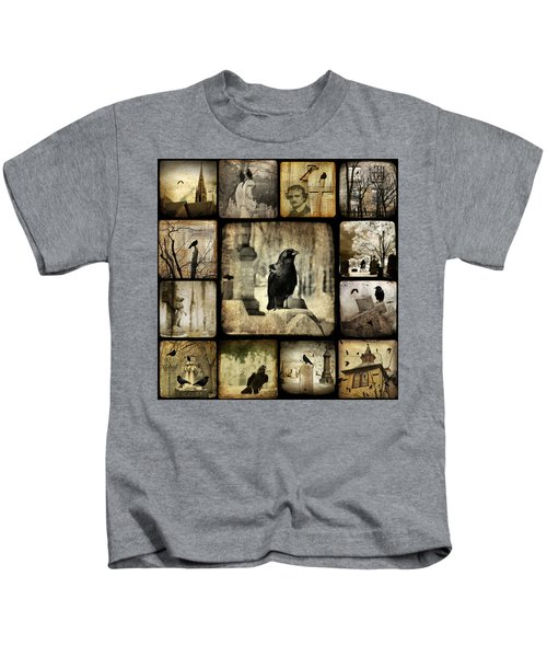 Gothic And Crows Kids T-Shirt by Gothicrow Images