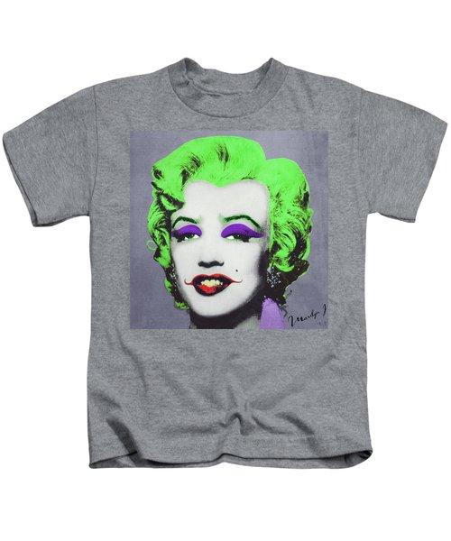 Joker Marilyn Kids T-Shirt by Filippo B