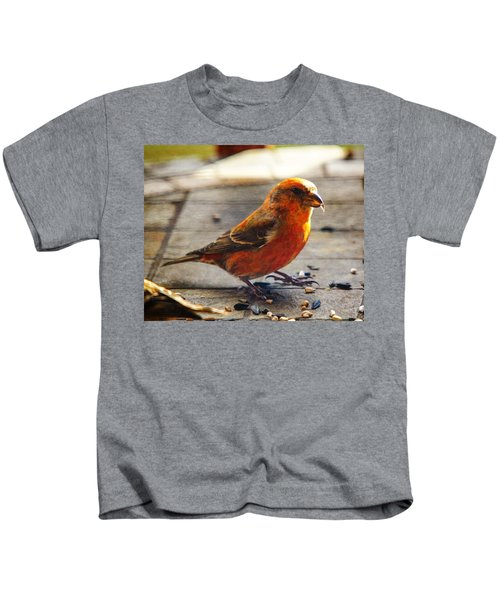 Look - I'm A Crossbill Kids T-Shirt by Robert L Jackson