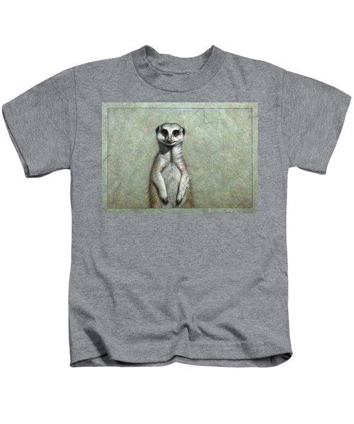 Meerkat Kids T-Shirt by James W Johnson