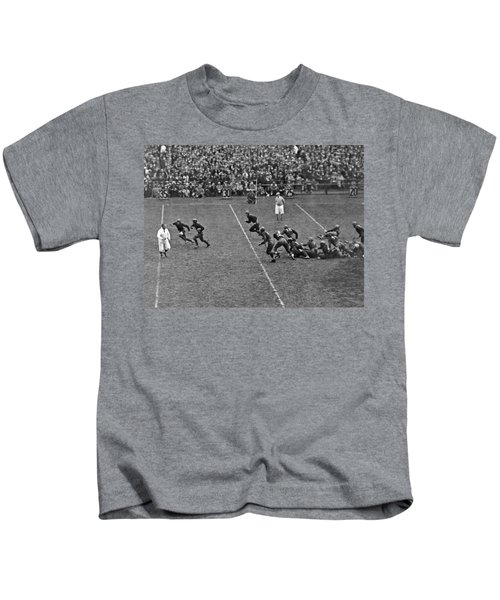 Notre Dame Versus Army Game Kids T-Shirt by Underwood Archives