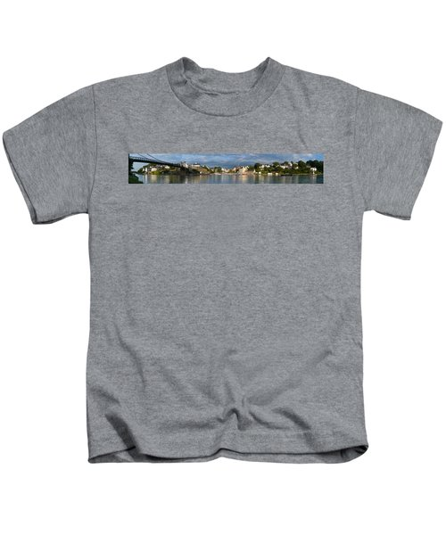 Old Bridge Over The Sea, Le Bono, Gulf Kids T-Shirt by Panoramic Images