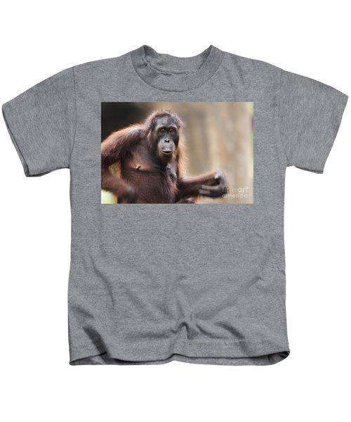 Orangutan Kids T-Shirt by Richard Garvey-Williams