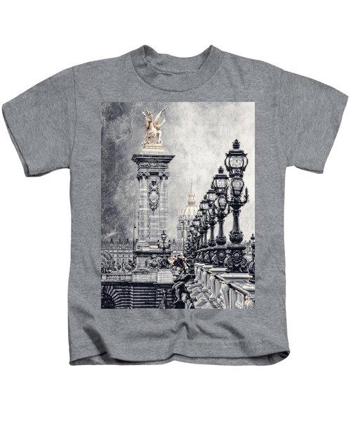 Paris Pompous 2 Kids T-Shirt by Joachim G Pinkawa