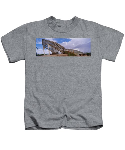 Pedestrian Bridge Over A River, Snake Kids T-Shirt by Panoramic Images