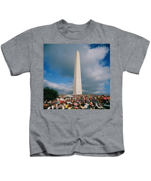 People At Washington Monument, The Kids T-Shirt by Panoramic Images