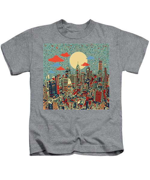 Philadelphia Dream 2 Kids T-Shirt by Bekim Art