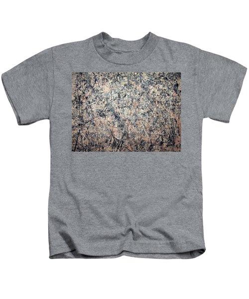 Pollock's Number 1 -- 1950 -- Lavender Mist Kids T-Shirt by Cora Wandel