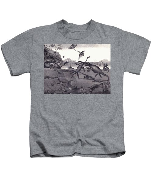 Prehistoric Animals Of The Lias Group Kids T-Shirt by English School