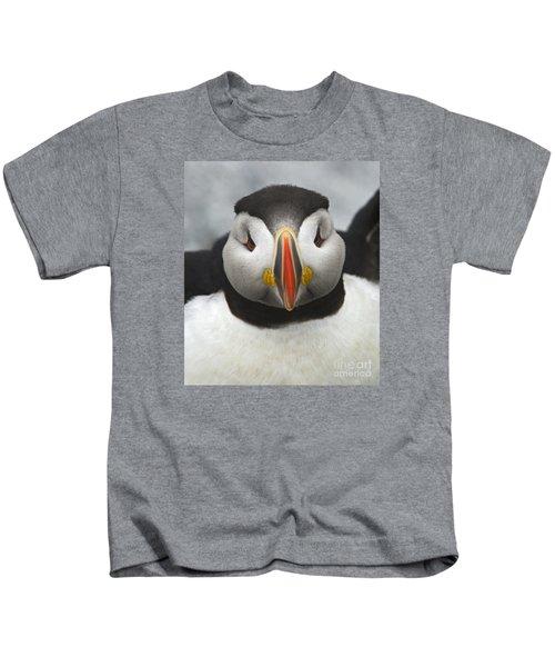 Puffin It Up... Kids T-Shirt by Nina Stavlund