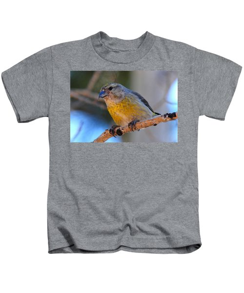 Red Crossbill Female Kids T-Shirt by Marilyn Burton