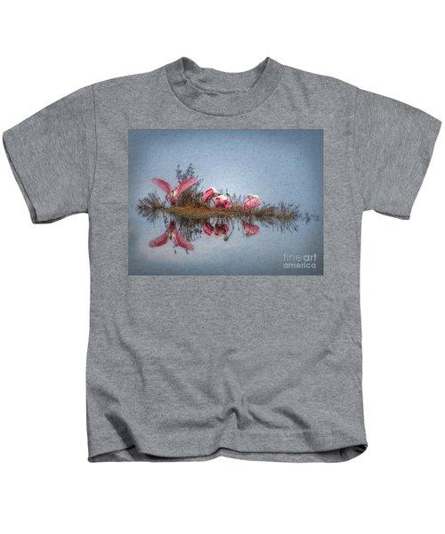 Roseate Spoonbills At Rest Kids T-Shirt by Lianne Schneider
