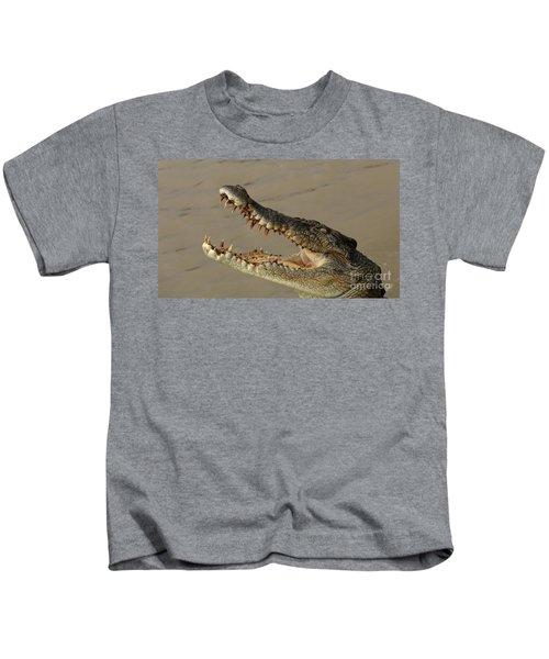 Salt Water Crocodile 1 Kids T-Shirt by Bob Christopher