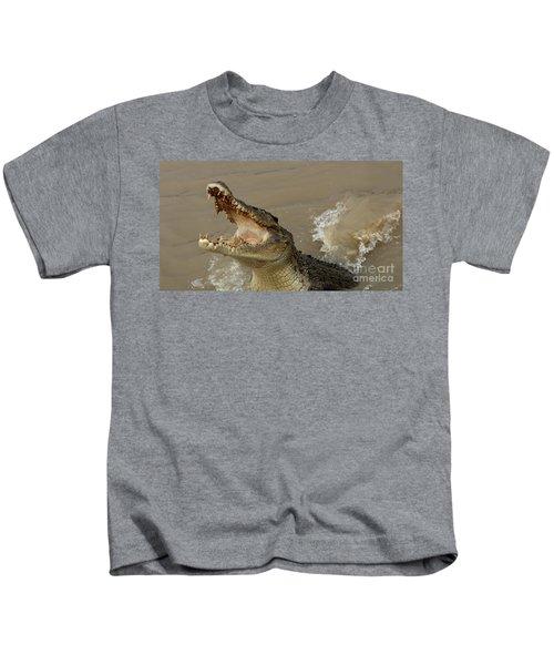 Salt Water Crocodile 2 Kids T-Shirt by Bob Christopher