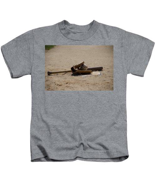 Softball Kids T-Shirt by Bill Cannon