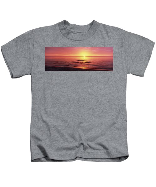 Sunset Over The Sea, Venice Beach Kids T-Shirt by Panoramic Images