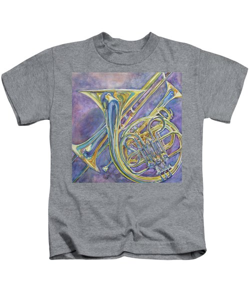Three Horns Kids T-Shirt by Jenny Armitage