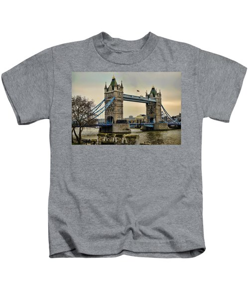 Tower Bridge On The River Thames Kids T-Shirt by Heather Applegate