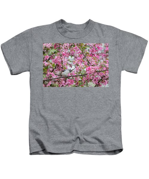 Tufted Titmouse In A Pear Tree Kids T-Shirt by Bill Wakeley