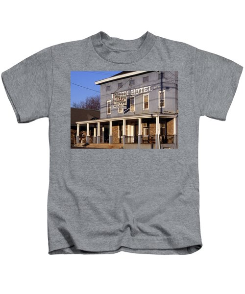 Union Hotel Kids T-Shirt by Skip Willits