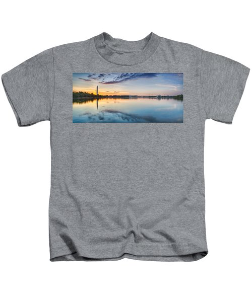 Washington Dc Panorama Kids T-Shirt by Sebastian Musial