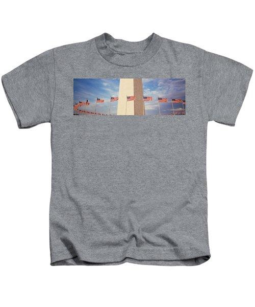 Washington Monument Washington Dc Usa Kids T-Shirt by Panoramic Images
