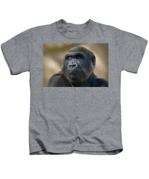 Western Lowland Gorilla Portrait Kids T-Shirt by San Diego Zoo