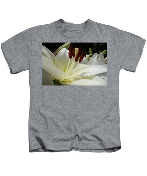 White Asiatic Lily Kids T-Shirt by Jacqueline Athmann