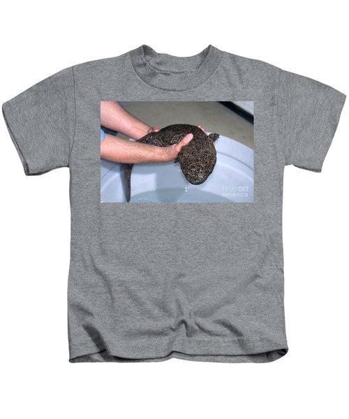 Chinese Giant Salamander Kids T-Shirt by Dante Fenolio