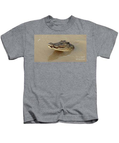 Salt Water Crocodile 3 Kids T-Shirt by Bob Christopher