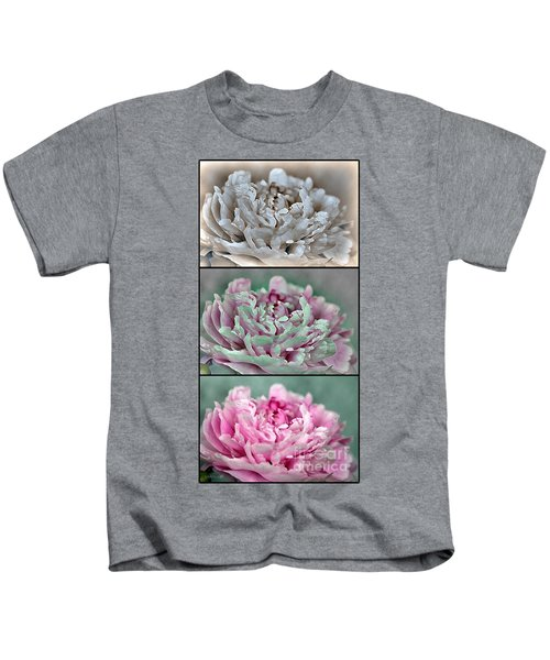 Peony Named Shirley Temple Kids T-Shirt by J McCombie