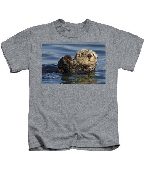 Sea Otter Monterey Bay California Kids T-Shirt by Suzi Eszterhas