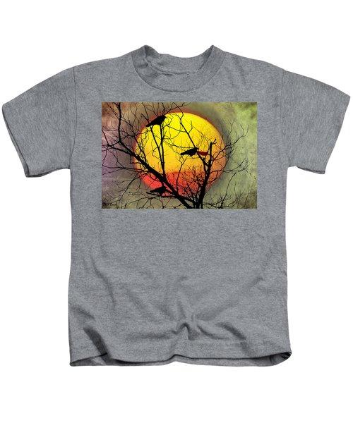 Three Blackbirds Kids T-Shirt by Bill Cannon