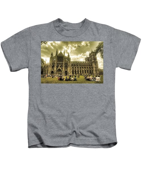 Westminster Abbey Kids T-Shirt by Rob Hawkins