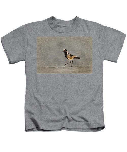 Black-winged Lapwing Art Kids T-Shirt by Kay Brewer