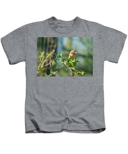 Lovely Little Lovebird  Kids T-Shirt by Saija Lehtonen