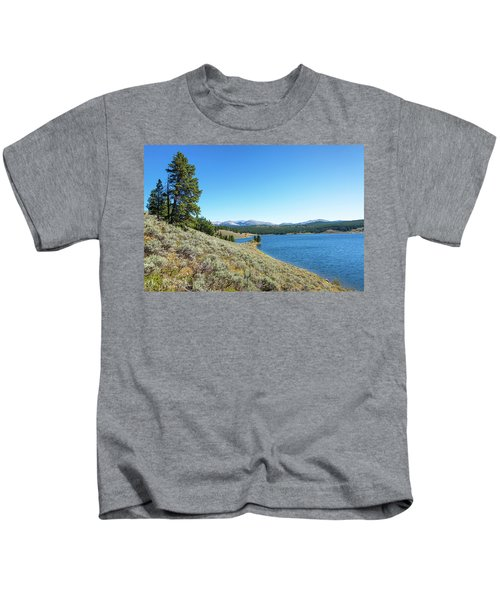 Meadowlark Lake View Kids T-Shirt by Jess Kraft