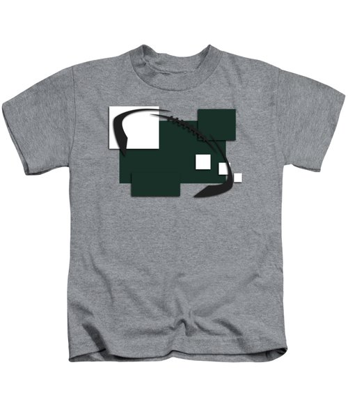 New York Jets Abstract Shirt Kids T-Shirt by Joe Hamilton