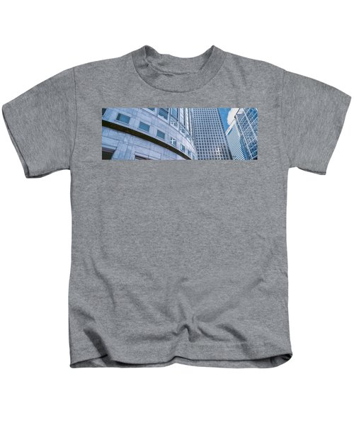 Skyscrapers In A City, Canary Wharf Kids T-Shirt by Panoramic Images