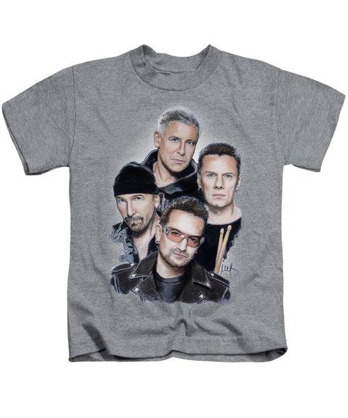 U2 Kids T-Shirt by Melanie D