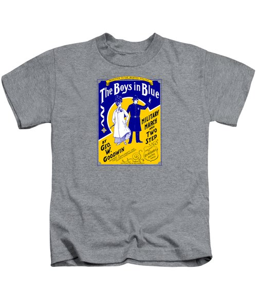 1901 The Boys In Blue, The Boston Police Kids T-Shirt by Historic Image