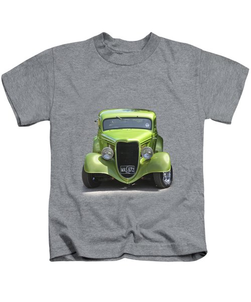 1934 Ford Street Hot Rod On A Transparent Background Kids T-Shirt by Terri Waters