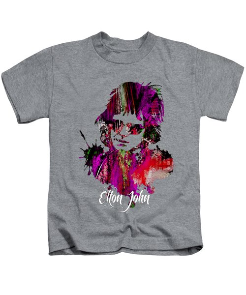 Elton John Collection Kids T-Shirt by Marvin Blaine